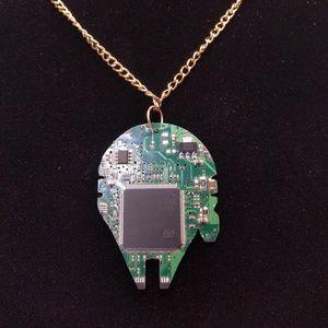 Jewelry - millennium falcon circuit board necklace